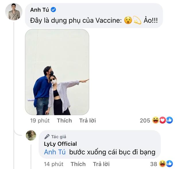 1 cặp đôi Vbiz đi tiêm vaccine cũng quấn quýt không rời, chăm phát