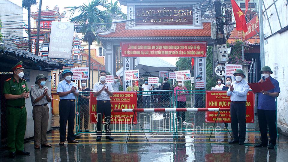 NAM ĐỊNH: Dỡ bỏ giãn cách huyện Hải Hậu; quyết tâm giữ vững thành quả chống dịch - ảnh 1