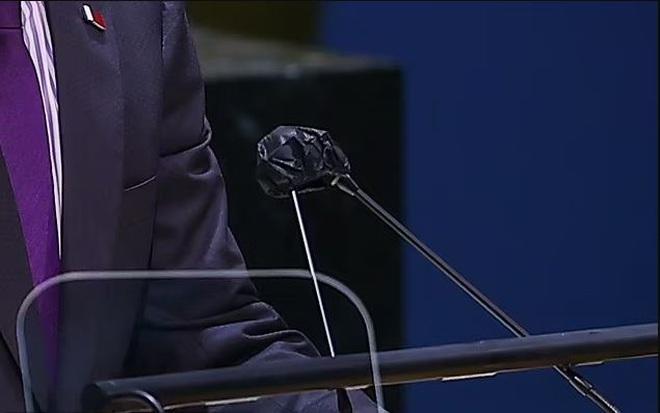 Chiếc micro khác thường trong cuộc họp của các nhà lãnh đạo tại LHQ - ảnh 3