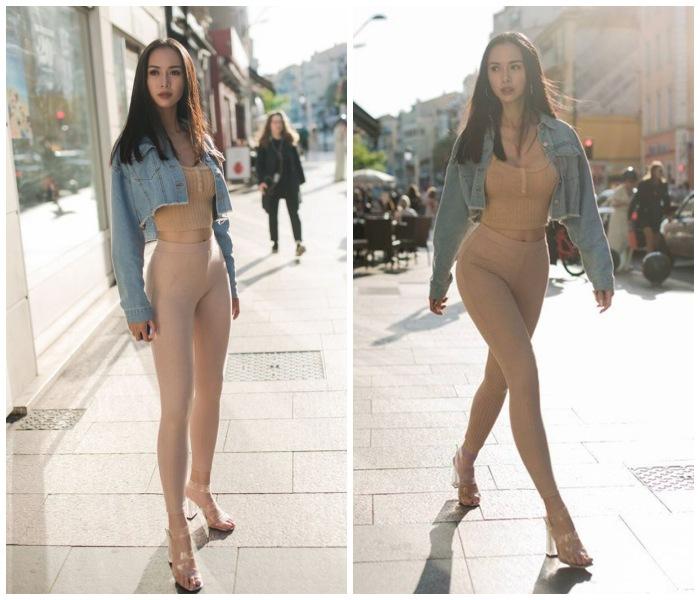 Người đẹp Việt ham diện quần tập có thiết kế lạ mắt - ảnh 2