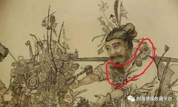 Phóng to bức tranh khó hiểu trong Bảo tàng Cố Cung, hậu thế rùng mình: Người đàn ông này có 27 con mắt! - ảnh 2