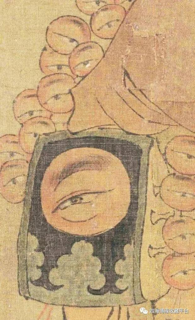 Phóng to bức tranh khó hiểu trong Bảo tàng Cố Cung, hậu thế rùng mình: Người đàn ông này có 27 con mắt! - ảnh 3
