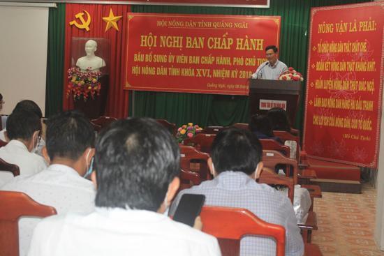 Hội nghị bất thường BCH Hội ND tỉnh Quảng Ngãi bầu được người giữ chức danh Phó Chủ tịch Hội Nông dân tỉnh - ảnh 2