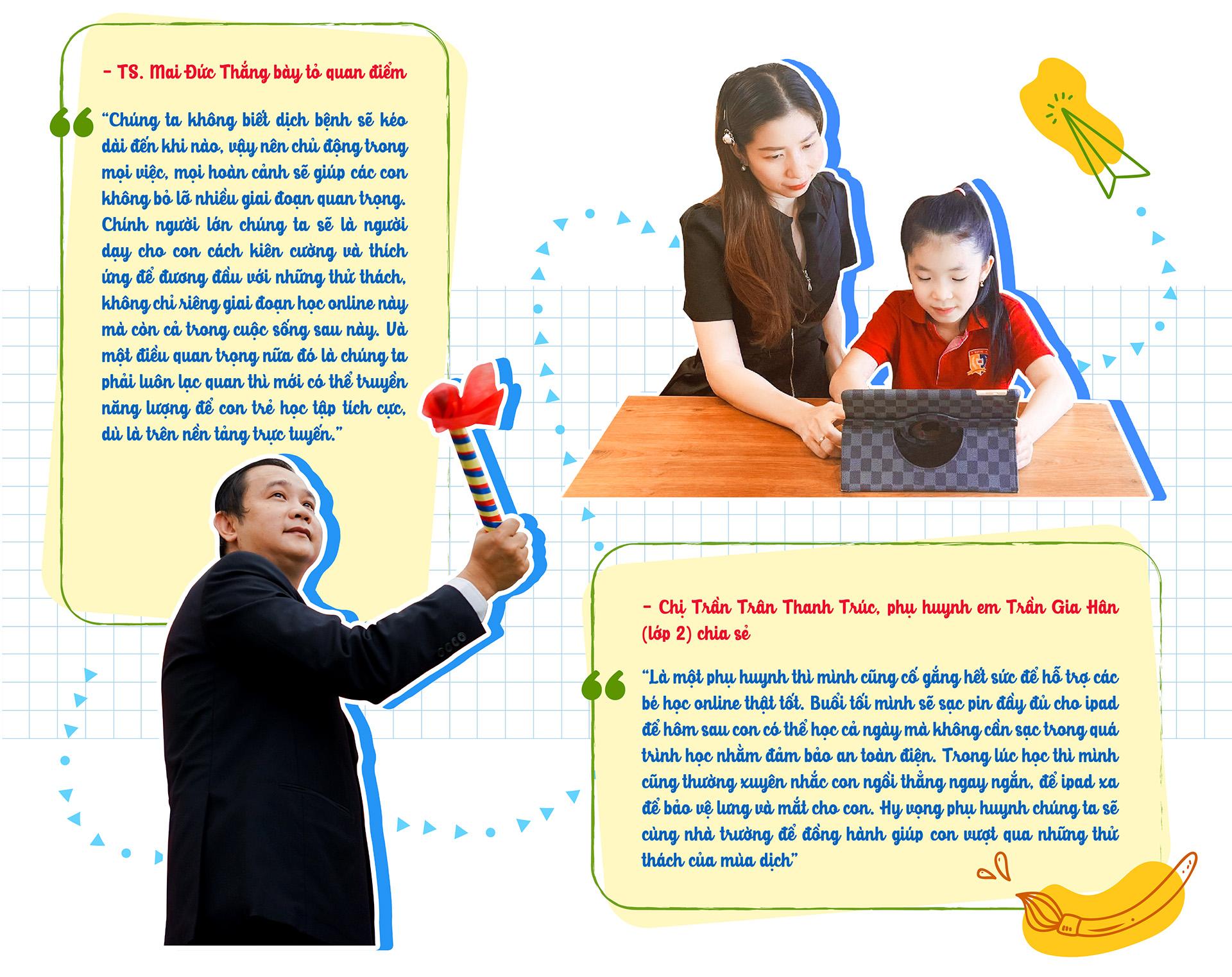 Những lớp học 'không bục giảng' của học sinh tiểu học tại Royal School 'mùa giãn cách' - ảnh 11