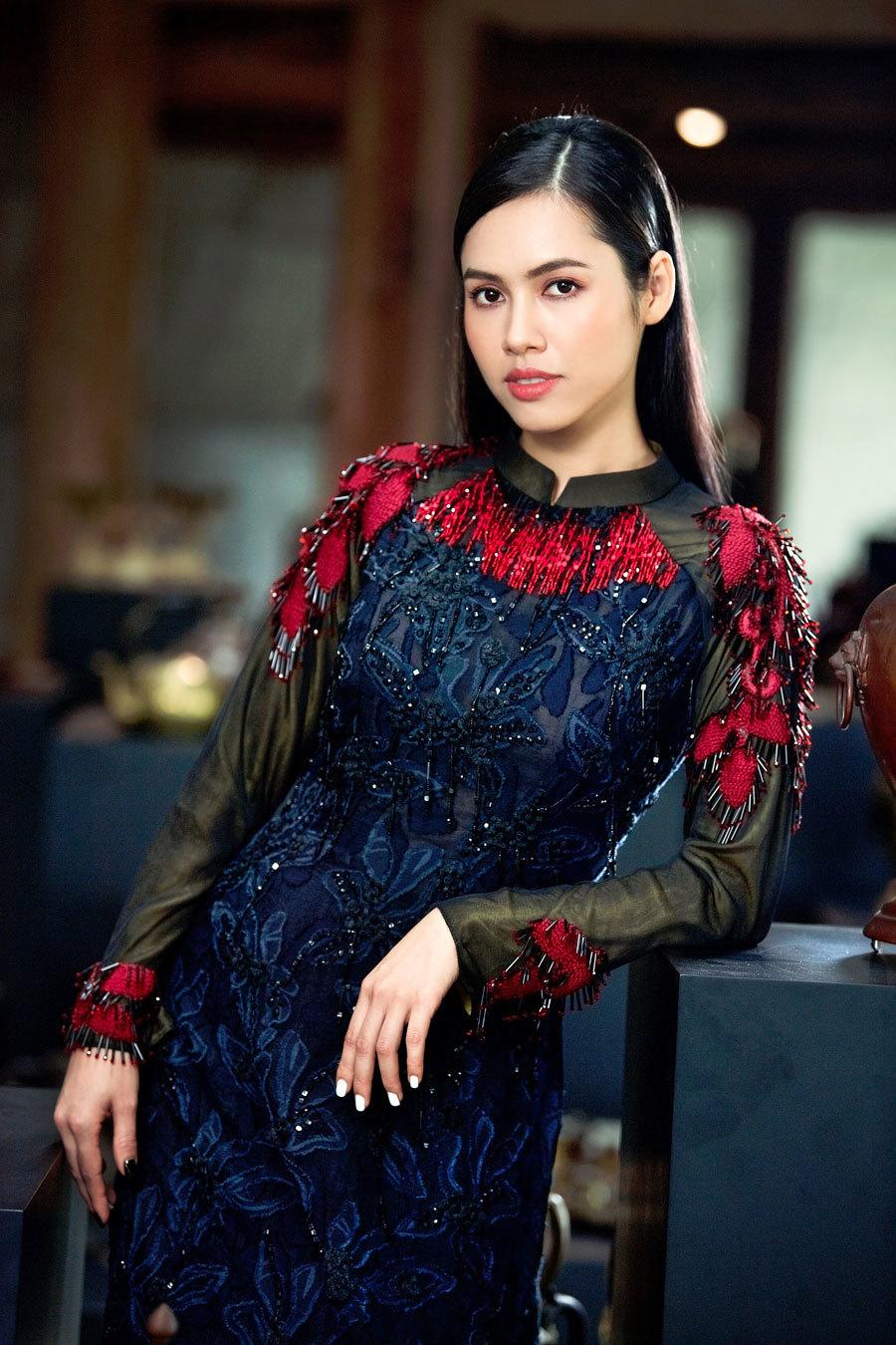 Á hậu Hoàng My, Ngọc Trân đẹp tựa đóa quỳnh nở muộn - ảnh 9