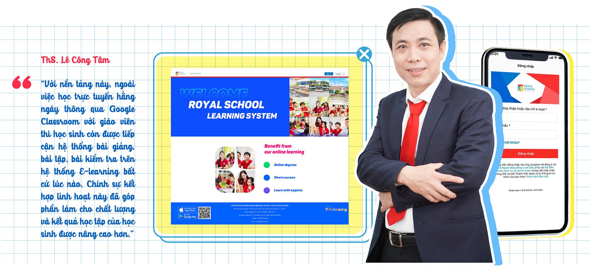 Những lớp học 'không bục giảng' của học sinh tiểu học tại Royal School 'mùa giãn cách' - ảnh 5