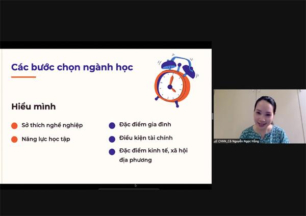 Hội thảo hướng nghiệp trực tuyến cho hơn 500 học sinh Hải Phòng, Nghệ An - ảnh 2