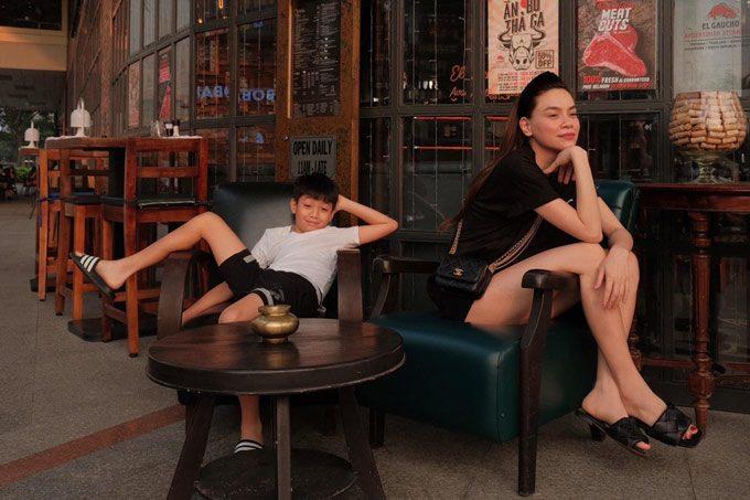Dẫn con đi chơi, Hồ Ngọc Hà điệu đàng, Kim Lý giản dị - ảnh 24