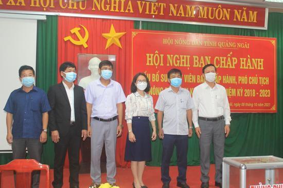 Hội nghị bất thường BCH Hội ND tỉnh Quảng Ngãi bầu được người giữ chức danh Phó Chủ tịch Hội Nông dân tỉnh - ảnh 3