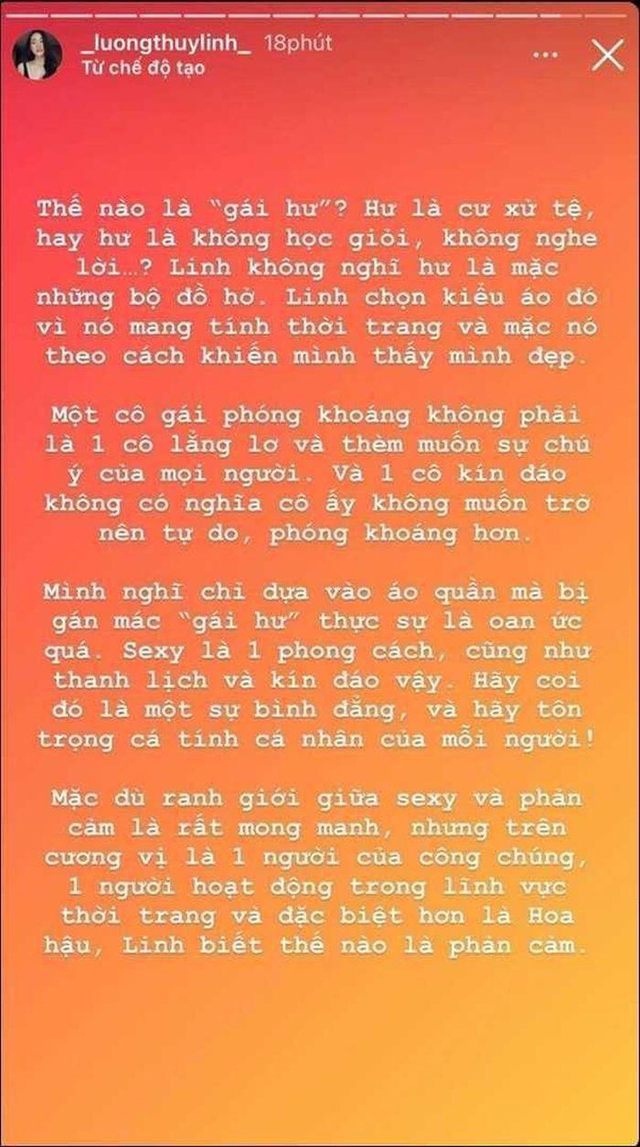 Bị chỉ trích vì hở bạo, Hoa hậu Lương Thùy Linh: Thế nào là 'gái hư'? - ảnh 4