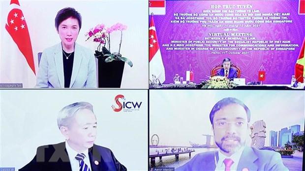 Việt Nam-Singapore đẩy mạnh hợp tác trong lĩnh vực an ninh mạng - ảnh 2