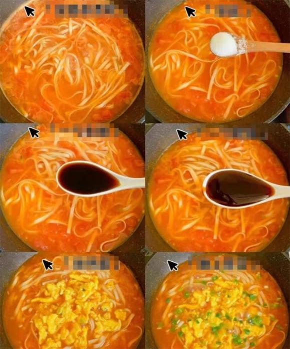 Cách nấu mì trứng và cà chua không dầu mỡ, chỉ với 3 phút cho bữa sáng ngon miệng và bổ dưỡng dạ dày - ảnh 2