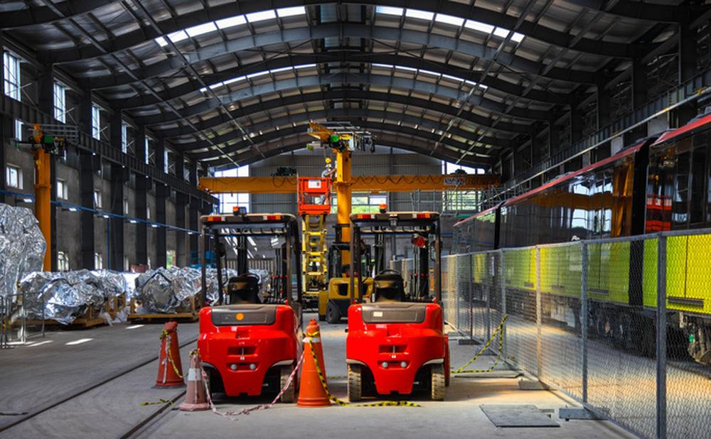 Cận cảnh 10 đoàn tàu tuyến Metro Nhổn - ga Hà Nội sẵn sàng chạy thử nghiệm - ảnh 3