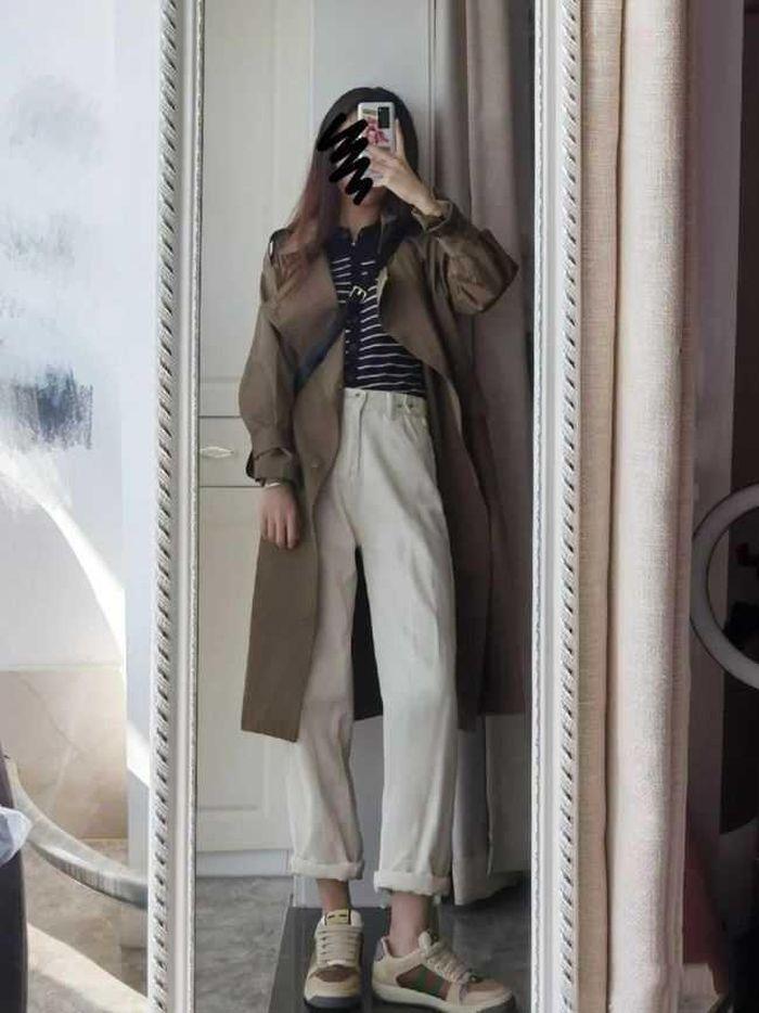 Áo khoác gió mix giày thể thao: Sự kết hợp dành cho mùa lạnh, mặc lên đẹp như Angela Baby - ảnh 7