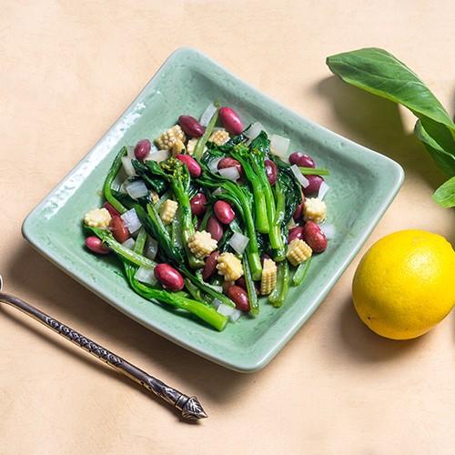 Món đậu đỏ xào cải ngồng thơm ngon dinh dưỡng - ảnh 1