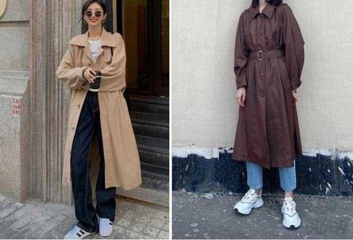 Áo khoác gió mix giày thể thao: Sự kết hợp dành cho mùa lạnh, mặc lên đẹp như Angela Baby - ảnh 5