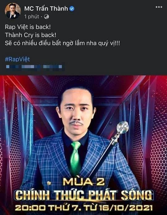 """Netizen bàn tán bộ râu của Trấn Thành tại Rap Việt: Trông như """"bác râu kẽm"""" trong Conan! - ảnh 8"""