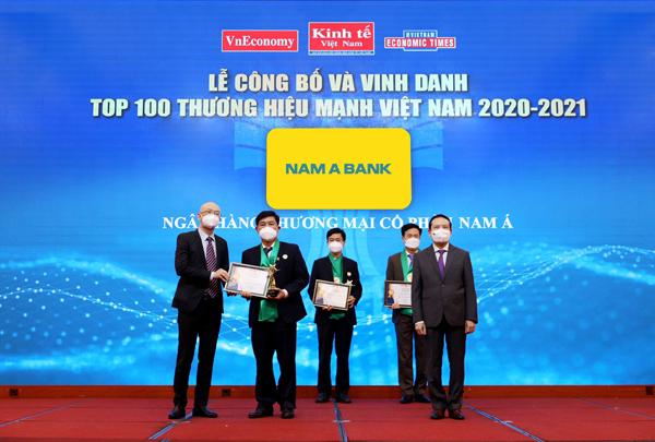 Nam A Bank liên tiếp 6 lần đạt thương hiệu mạnh Việt Nam - ảnh 1