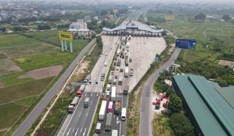 Kiểm soát người vào thủ đô, cao tốc Pháp Vân - Cầu Giẽ ùn tắc hàng cây số