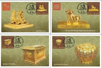 """Phát hành bộ tem """"Bảo vật quốc gia Việt Nam: Đồ vàng"""""""