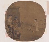Bí ẩn bức tranh bộ xương chơi múa rối kỳ quái trong Bảo tàng Cố cung