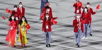 Đoàn Việt Nam diễu hành tại lễ khai mạc Olympic Tokyo