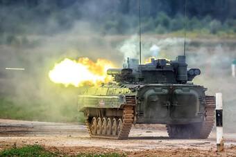 """[ẢNH] Lo ngại Taliban đánh úp, Nga vội đưa """"quái thú bộ binh"""" tới răn đe"""
