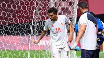 Sao trẻ Tây Ban Nha chấn thương rùng rợn ở trận mở màn Olympic Tokyo