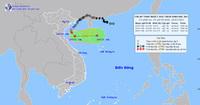 Áp thấp nhiệt đới cách Nam Định - Ninh Bình 120km, gây sóng lớn và mưa to
