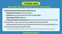 Thừa Thiên - Huế sẽ đón công dân từ TP HCM trở về bằng máy bay