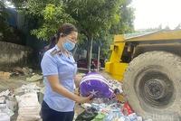 Nghệ An: Tiêu hủy hàng trăm loại hàng hoá vi phạm hành chính bị tịch thu