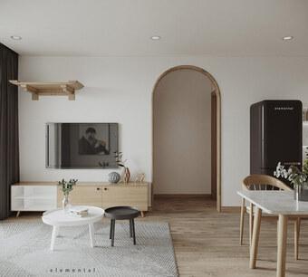 Tư vấn thiết kế căn hộ 69m² với phong cách tối giản trong khoảng chi phí 170 triệu đồng