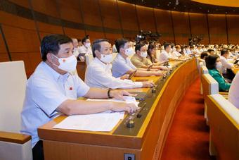 100% ĐBQH có mặt tán thành thông qua Nghị quyết về cơ cấu Chính phủ nhiệm kỳ 2021-2026