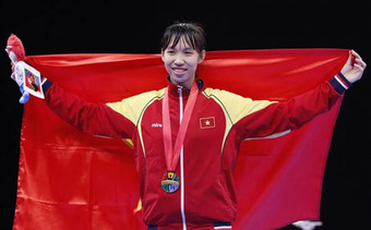 Nữ võ sĩ taekwondo Trương Thị Kim Tuyền giành vé đến Olympic Tokyo 2021