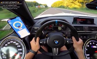 Xem chiếc BMW M2 phi như bay hơn 300 km/h trên đường cao tốc