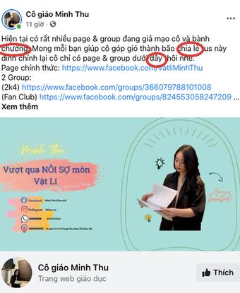Lên bài kêu gọi dân mạng ủng hộ, cô giáo Minh Thu bị bóc viết sai 3 lỗi chính tả, đọc cực kỳ khó chịu