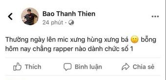 """Cả cõi mạng thắc mắc """"Ai là rapper số 1 Việt Nam"""", B Ray chốt 1 câu """"trúng tim đen"""" khối người"""