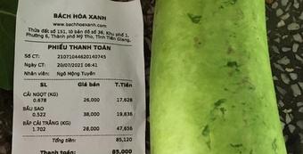 Cửa hàng Bách hóa Xanh ở Long An tính tiền nhiều hơn lượng hàng bán ra