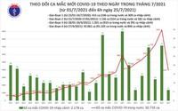 Bản tin COVID-19 sáng 25/7: Hà Nội, TP HCM và 19 tỉnh thêm gần 4.000 ca mắc