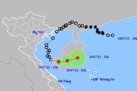 Tối nay, các tỉnh từ Hà Tĩnh đến Thừa Thiên Huế mưa to