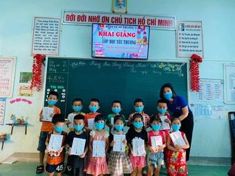 Những ''lớp học yêu thương'' ở Quảng Trị dành cho học sinh chuẩn bị vào lớp 1