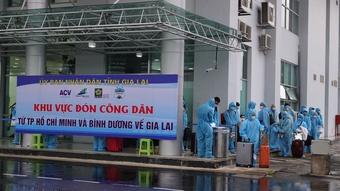 Gia Lai: Đón 192 công dân về từ TP.HCM, Bình Dương