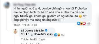 Lê Dương Bảo Lâm đáp trả khi bị dân mạng chỉ trích để con ngồi lên đồ ăn chụp hình