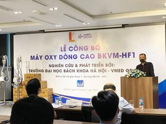 Việt Nam chế tạo thành công máy oxy dòng cao để phòng, chống COVID-19