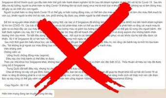 """Bác bỏ tin đồn """"Covid-19 là một loại vi khuẩn nhiễm phóng xạ gây đông máu"""""""