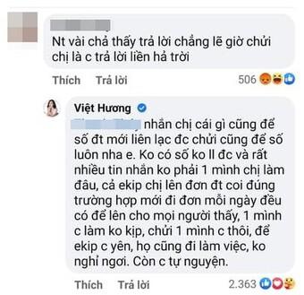 Đang làm từ thiện Việt Hương phải ''nghỉ tu 5 phút'' để đáp trả người trách móc mình