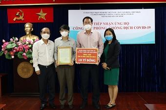 BIDV ủng hộ 10 tỷ đồng phòng, chống dịch Covid-19 tại TP.Hồ Chí Minh