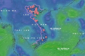 Xuất hiện vùng áp thấp trên Biển Đông, đề phòng thời tiết nguy hiểm