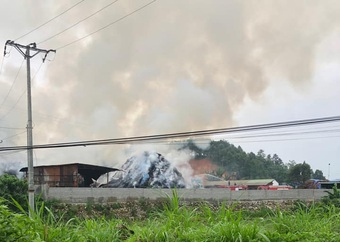 Lào Cai: Đám cháy lớn bùng phát trong đêm ở cơ sở chế biến tinh dầu quế