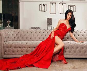Nhan sắc nóng bỏng của nữ tiếp viên hàng không vừa đăng quang Hoa hậu Siêu quốc gia Philippines 2021